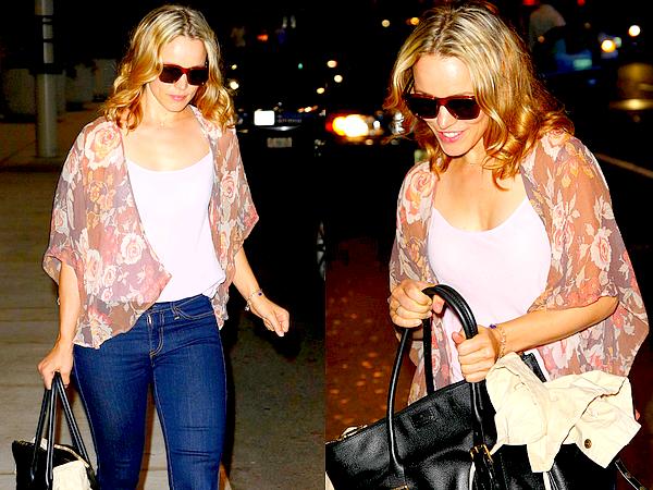 Le 05/09 :  Rachel a été aperçu arrivant à l'aéroport de Toronto pour le Festival du film (TIFF)