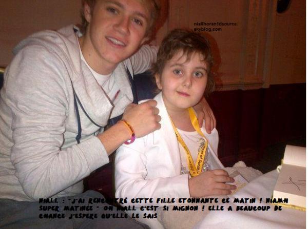 Niall Avec une petite fille
