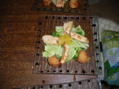Salade au poulet mariné à la mangue
