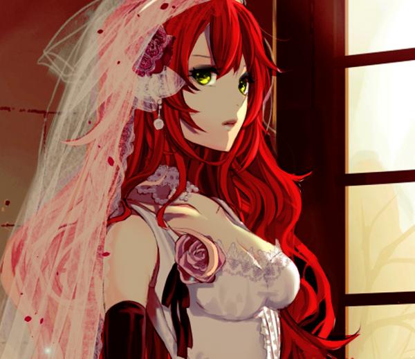 Nadège en robe de mariée