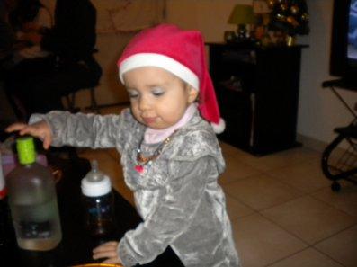 Mes princesses Malaury et Célia le 25 décembre 2010