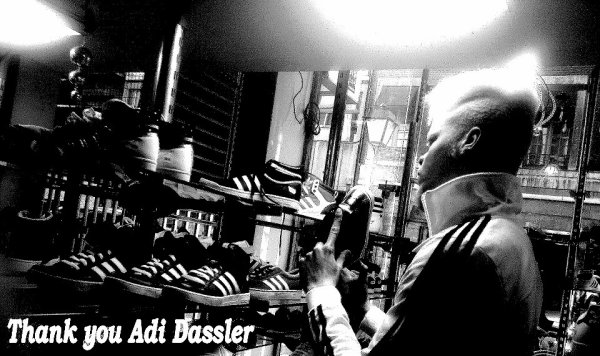 I love adidas and Adi Dassler