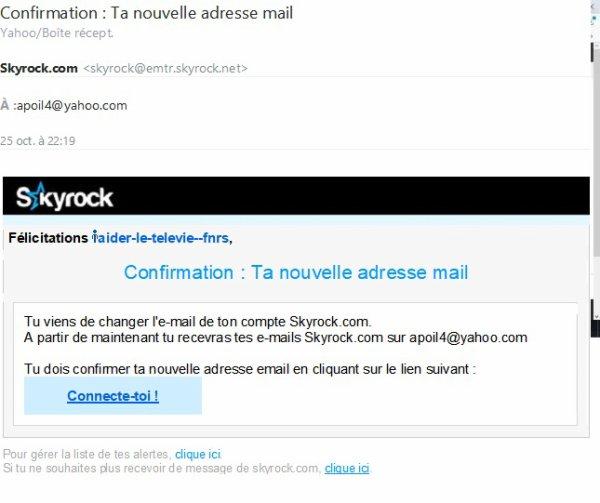 Confirmation : Ta nouvelle adresse mail aider-le-televie--fnrs