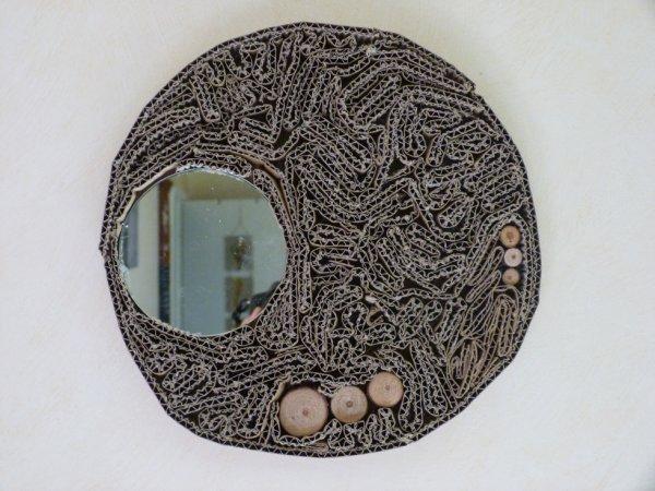 décor carton miroir