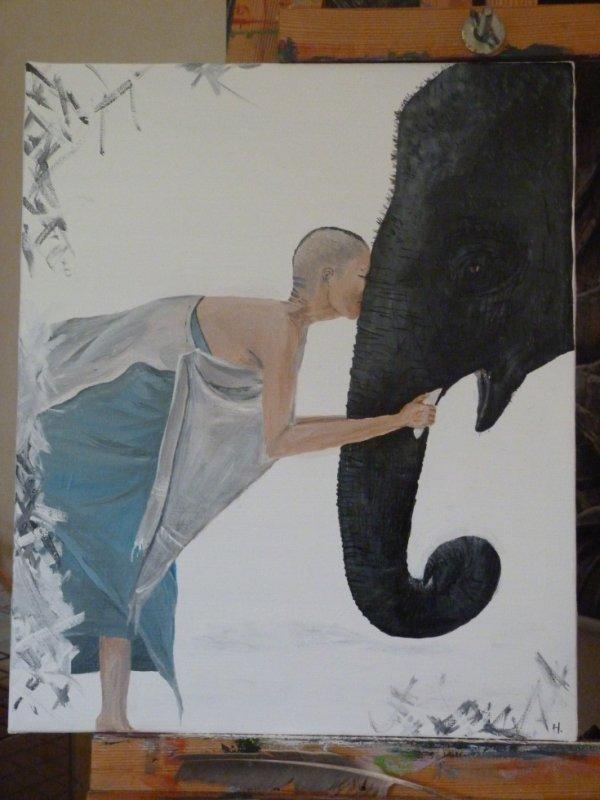 amour éléphant