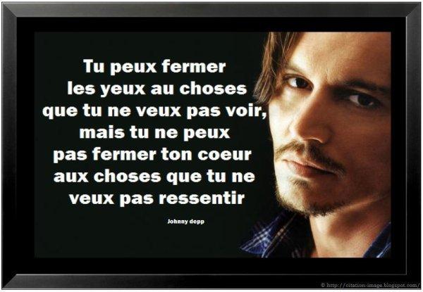 Johnny Depp à dit un jour...