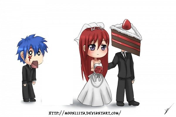 """Fairy tail . """"ERZA SE MARRIE"""""""