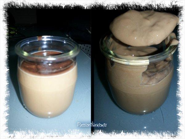Crème au chocolat, allégée