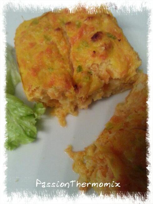 Flan de courgettes et carottes