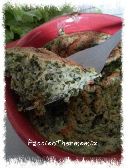 Soufflé aux épinards et deux fromages