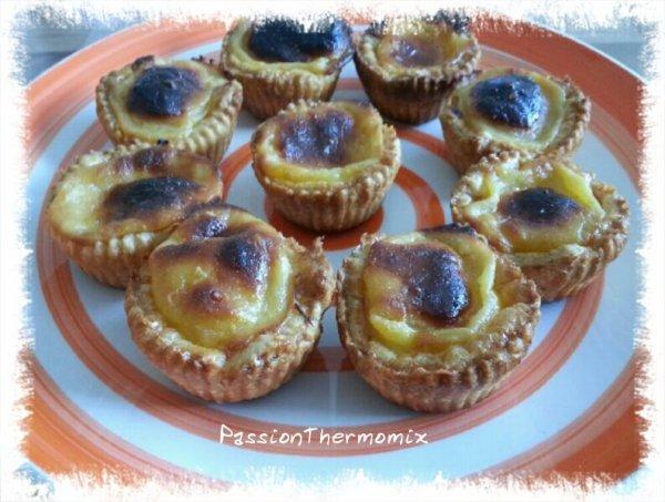 Petits flans portugais : Pasteis de nata