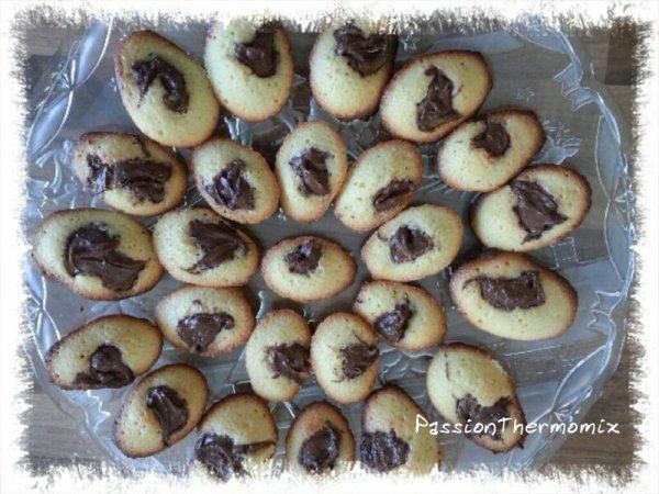 Madeleines au coeur de nut