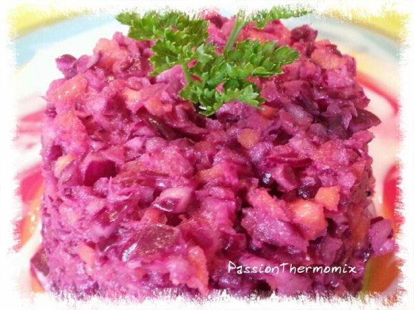 Choux rouge sauce yaourt