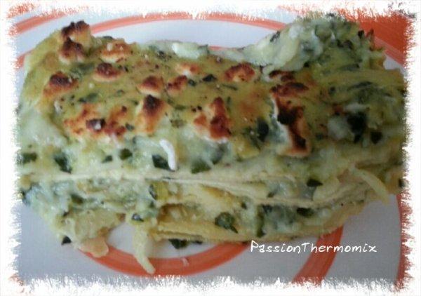 Lasagne courgettes & fromage de chèvre