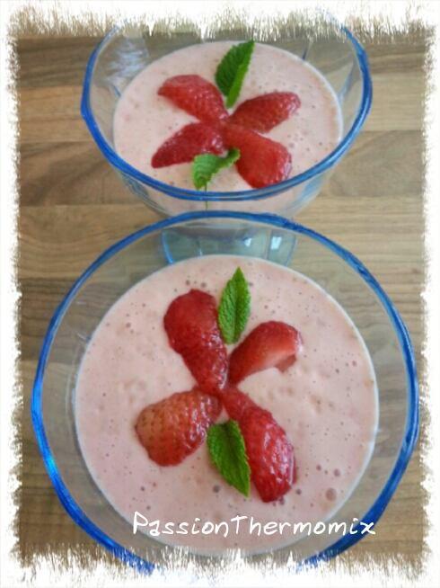 Mousse de fraises ultra légère