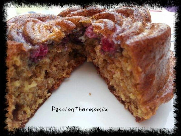 Gâteau diététique aux framboises