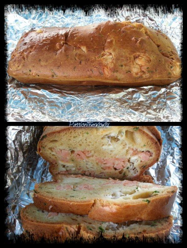 Cake saumon & chèvre