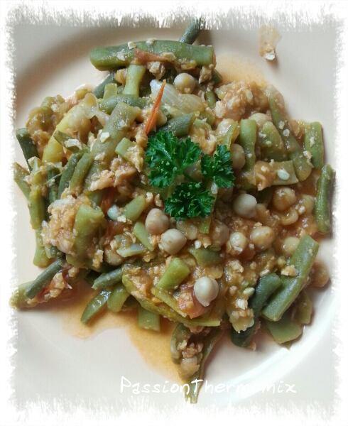 Haricots vert aux protéines végétales