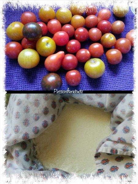 Clafoutis de tomates cerises