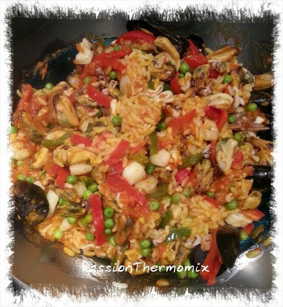 Paella express aux fruits de mer
