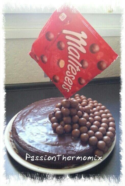 Gâteau damier au carambar, en gravity cake