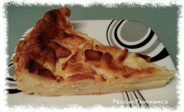 Tarte aux pommes, sans pâte & light