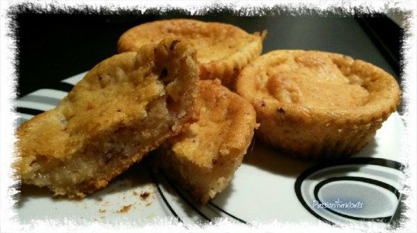 Muffins sans oeuf, aux poires