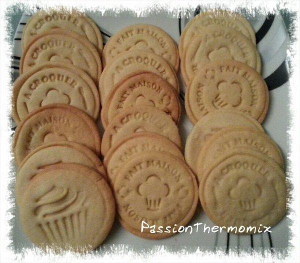 Biscuits sablés, au tampon