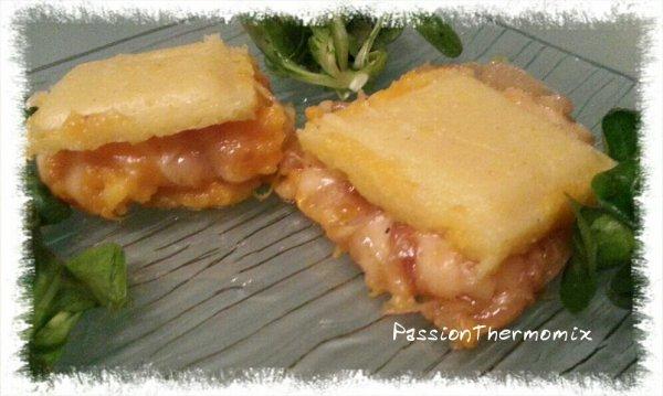 Carrés de polenta et butternut