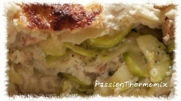 Lasagnes courgettes & saumon