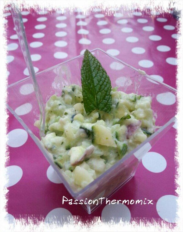 Crudités fraicheur de concombre & courgettes à la menthe