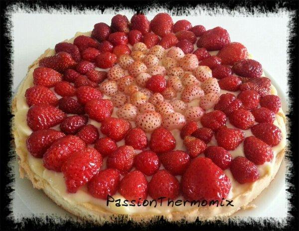Tarte aux fraises, sur génoise