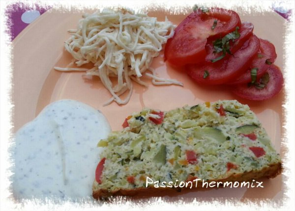 Pain de courgettes & poivron