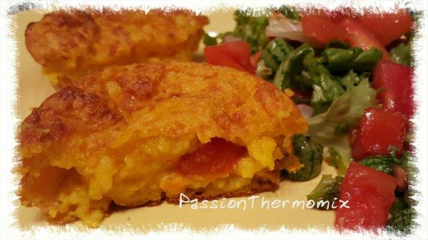 Muffins de carottes, aux tomates cerises