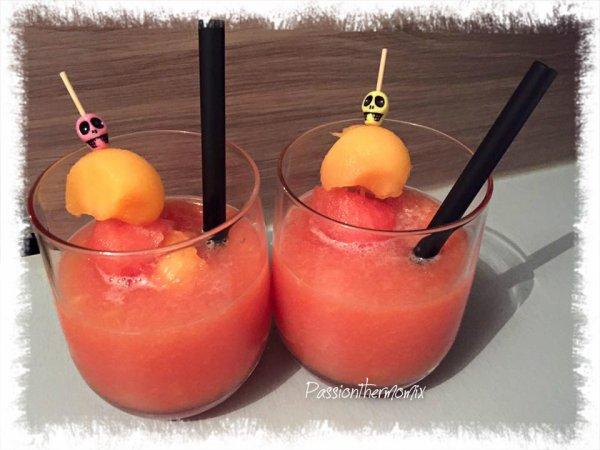 Soupe de melon & pastèque