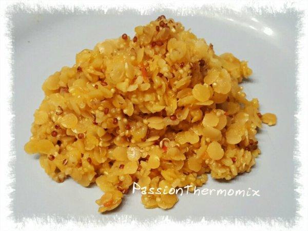 Lentilles corail & quinoa au curry