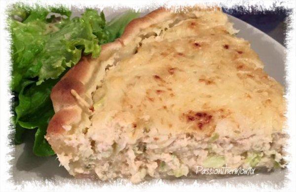 Tarte au saumon & aux courgettes