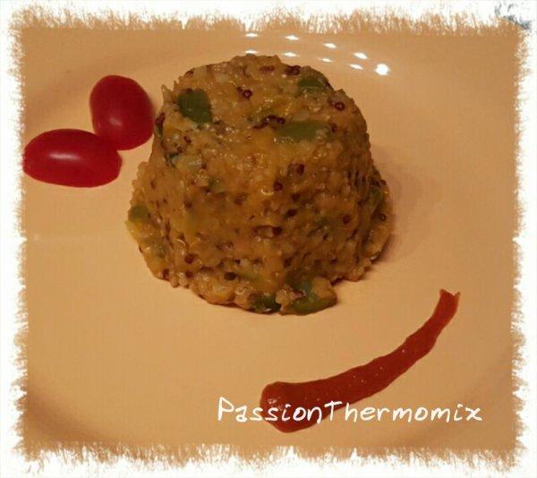Lentilles corail & quinoa aux légumes