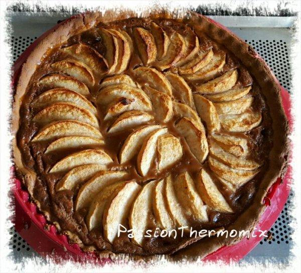 Tarte aux pommes, carambar & spéculos