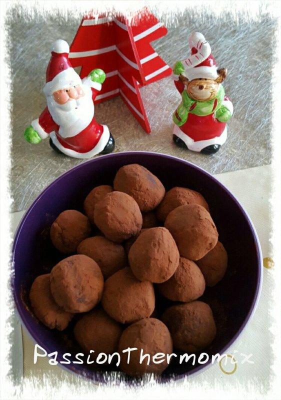 Truffes au chocolat, sans beurre