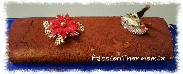 Bûche façon roulé à la ganache de chocolat