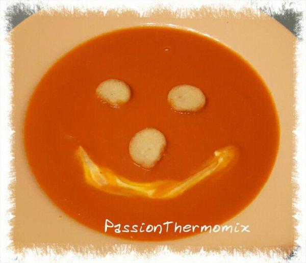 Velouté de tomates et poivrons