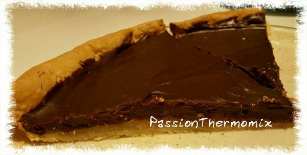 Tarte poires & chocolat