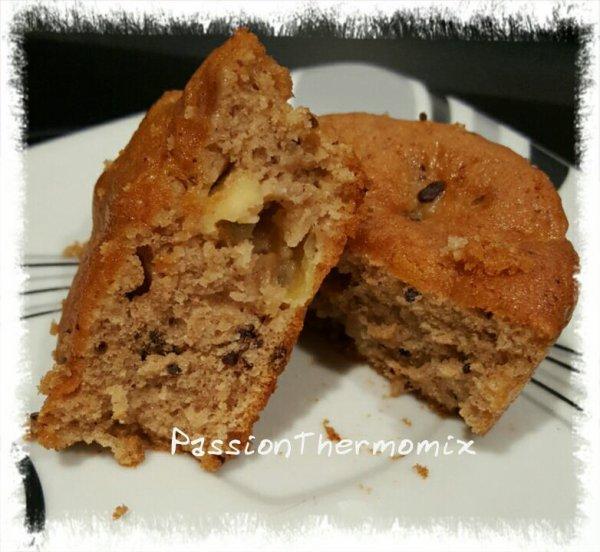 Muffins poire et chocolat, au beurre allégé