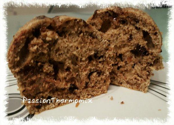 Muffins allégés, aux énormes pépites de chocolat