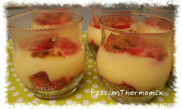 Verrines de fraises acidulées