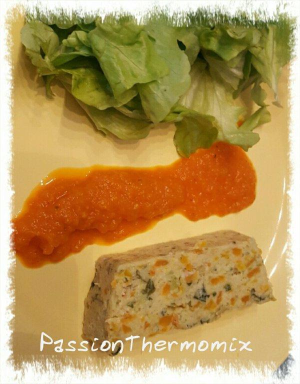 Terrine de légumes & son coulis épicé
