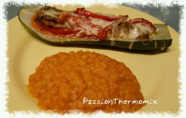Lentilles corail à la tomate