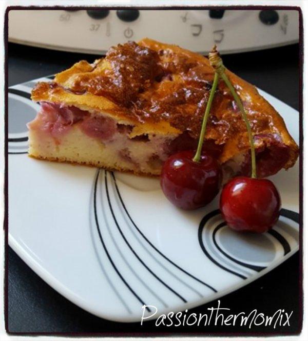 Gâteau moelleux aux cerises, faible en calories