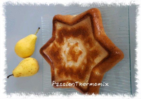 Gâteau aux poires & fromage blanc, light